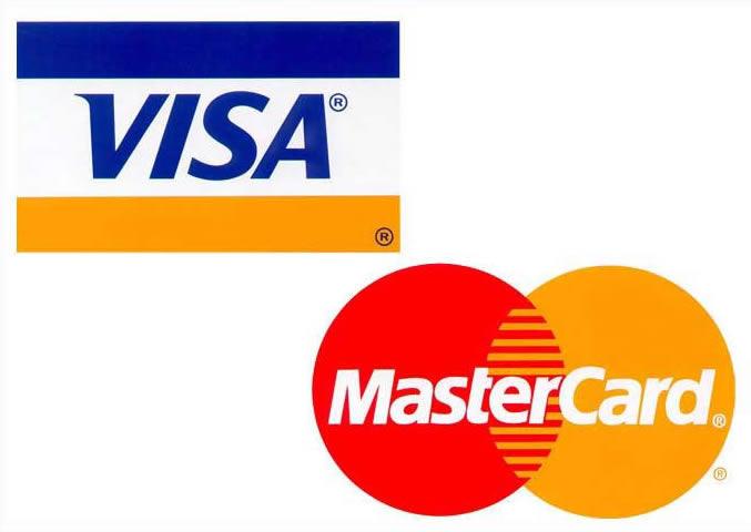 Τρόποι πληρωμής Mastercard Visa